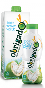Obrigado coconut water packaging